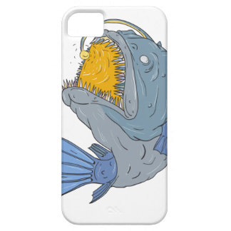 Anglerfish Swooping up Lure Drawing iPhone 5 Cover