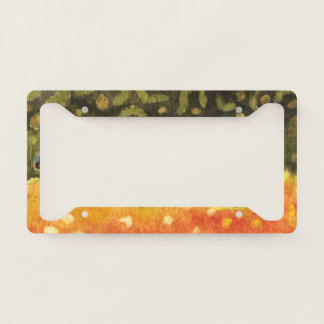 Angler's Brook Trout Fly Fishing Licence Plate Frame