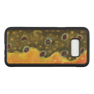 Angler's Brown Trout Skin Fly Fishing Carved Samsung Galaxy S8+ Case