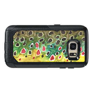 Angler's Brown Trout Skin Fly Fishing OtterBox Samsung Galaxy S7 Case