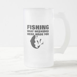 Anglers Fishing Themed Funny Slogan Frosted Glass Beer Mug