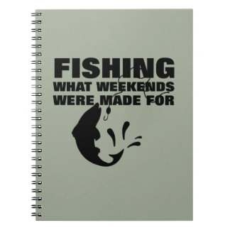 Anglers Fishing Themed Funny Slogan Notebooks