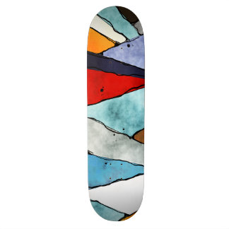 Angles of Textured Colors Skateboard Deck