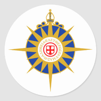 Anglican Rose Classic Round Sticker