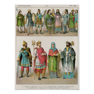 Anglo-Saxon Dress Poster