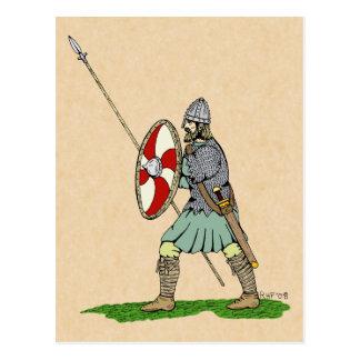 Anglo-Saxon Warrior Postcard