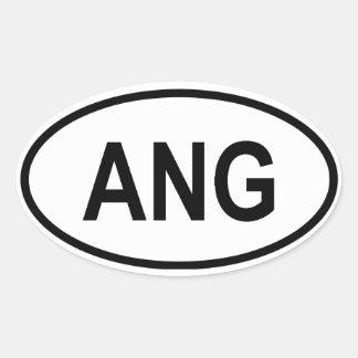 """Angola """"ANG"""" Oval Sticker"""