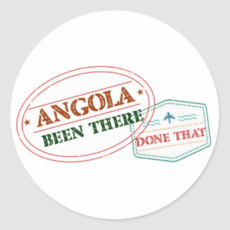 Angola Been There Done That Classic Round Sticker