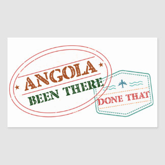 Angola Been There Done That Rectangular Sticker
