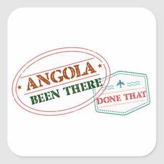 Angola Been There Done That Square Sticker