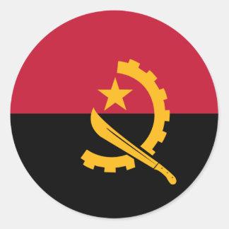 Angola Classic Round Sticker