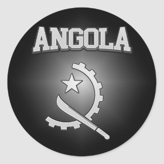 Angola Coat of Arms Classic Round Sticker