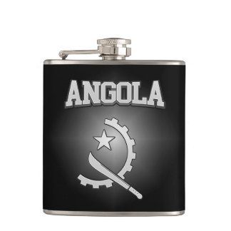 Angola Coat of Arms Hip Flask