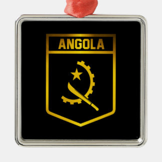 Angola Emblem Silver-Colored Square Decoration