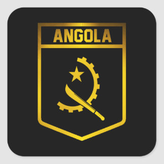 Angola Emblem Square Sticker