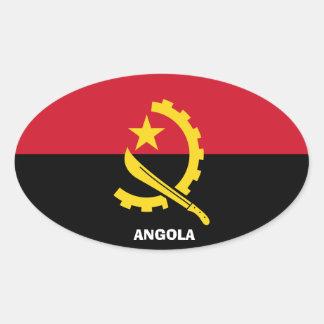 Angola Euro-StyleOval Sticker
