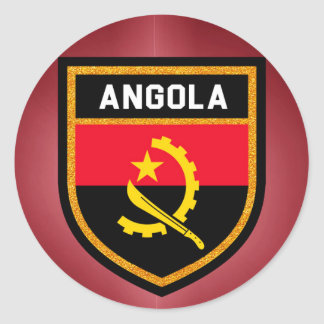 Angola Flag Classic Round Sticker