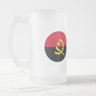 Angola Flag Frosted Glass Beer Mug