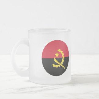 Angola Flag Frosted Glass Coffee Mug