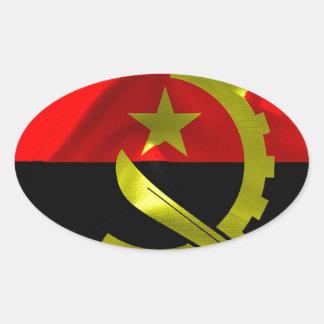 Angola Flag Oval Sticker