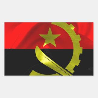 Angola Flag Rectangular Sticker