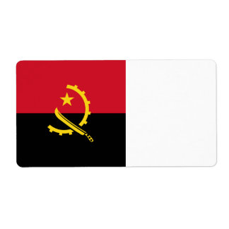 Angola Flag Shipping Label