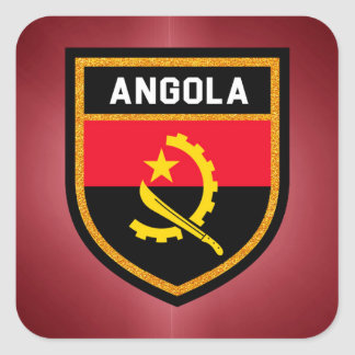 Angola Flag Square Sticker