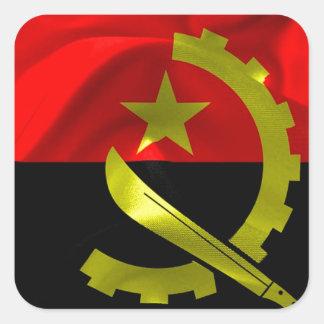 Angola Flag Square Sticker