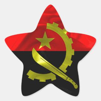 Angola Flag Star Sticker