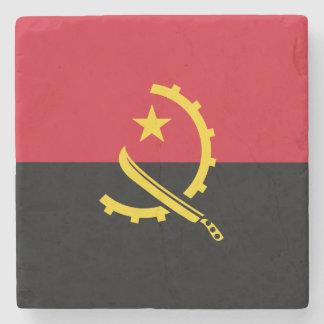 Angola Flag Stone Beverage Coaster