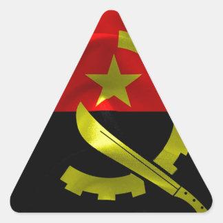 Angola Flag Triangle Sticker
