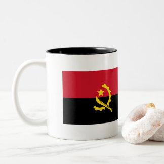 Angola Flag Two-Tone Coffee Mug