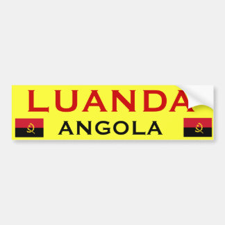 ANGOLA - Luanda Bumper Sticker* Bumper Sticker