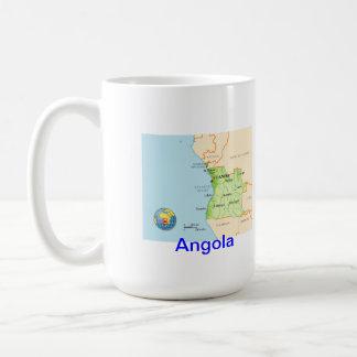 Angola map & flag coffee mug