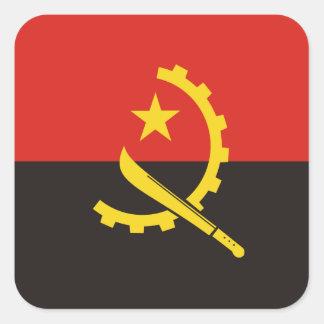 Angola National World Flag Square Sticker