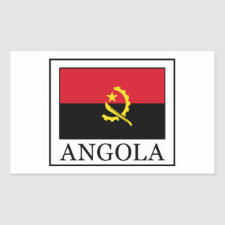 Angola Rectangular Sticker