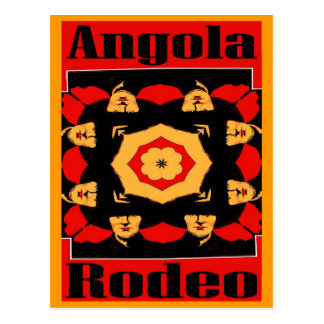 Angola Rodeo Poster Postcard