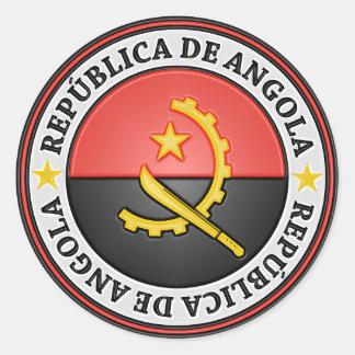 Angola Round Emblem Classic Round Sticker