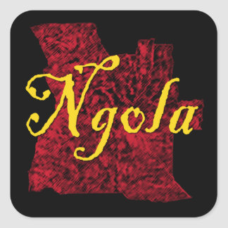 Angola Square Sticker