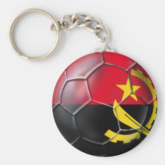 Angolan ball Black Antelopes soccer gear Basic Round Button Key Ring