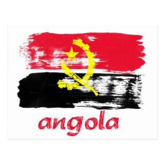Angolan Brush stroke flag designs Postcard