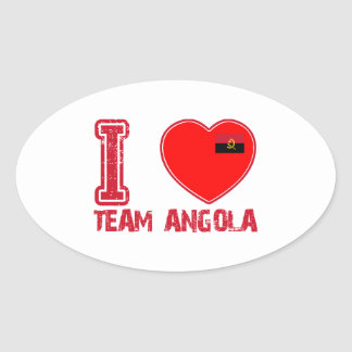 angolan team sports designs oval sticker