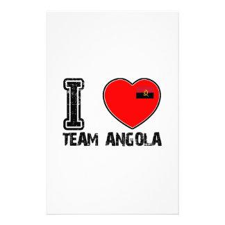 angolan team sports designs stationery design