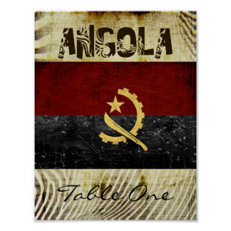 AngolaTable Number Poster
