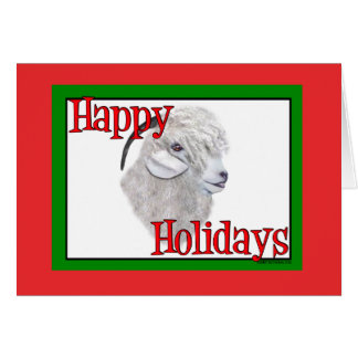 Angora Goat  Holiday Christmas Greeting Card