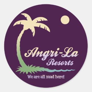 Angri-La II Round Sticker