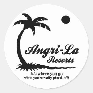 Angri-La Round Sticker