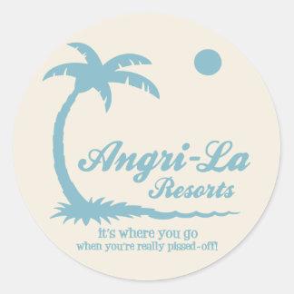 Angri-La Round Stickers