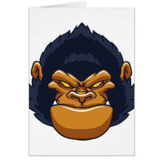 angry ape gorilla face card
