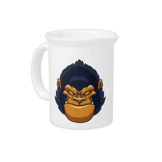 angry ape gorilla face pitcher